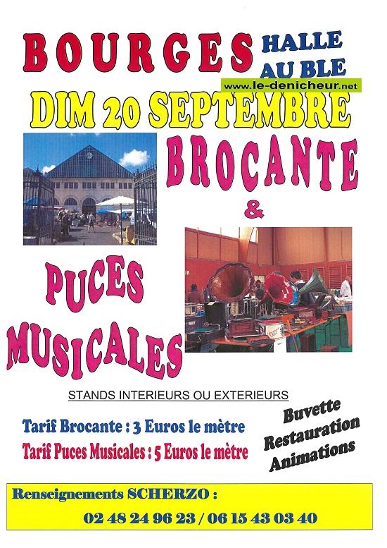 i20 - DIM 20 septembre - BOURGES - Brocante et Puces musicales */ 09-20_21