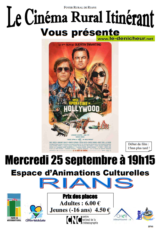 u25 - MER 25 septembre - RIANS - Once upon a ti */me in ... Hoolywood (cinéma itinérant)*/ 09-22510