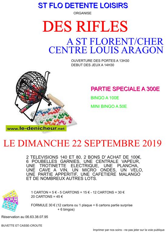 u22 - DIM 22 septembre - ST-FLORENT /Cher - Rifles de St-Flo Détente Loisirs */ 09-22_24