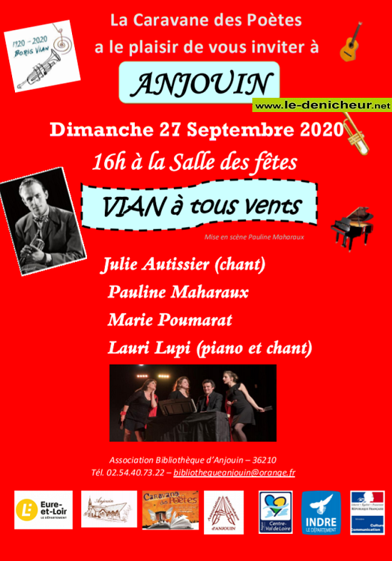 i27 - DIM 27 septembre - ANJOUIN - Vian à tout vents (concert) 09-2510