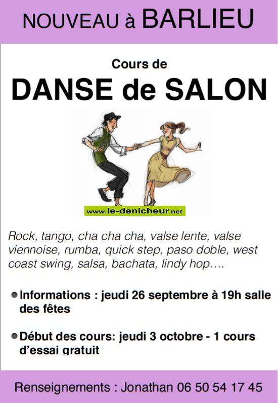 OCTOBRE 2019 - BARLIEU - Cours de danse de salon */ 09-26_12