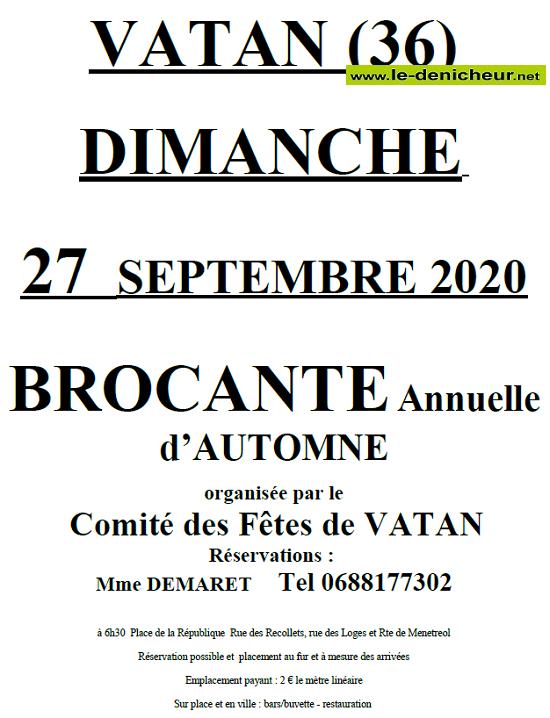 i27 - DIM 27 septembre - VATAN - Brocante du comité des fêtes */ 09-27_16