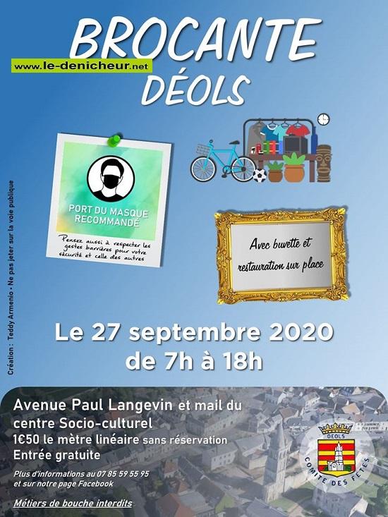 i27 - DIM 27 septembre - DEOLS - Brocante du comité des fêtes * 09-27_18