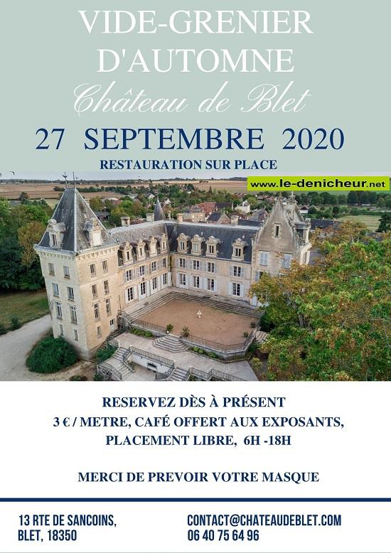 i27 - DIM 27 septembre - BLET - Vide grenier - Brocante*/ 09-27_19