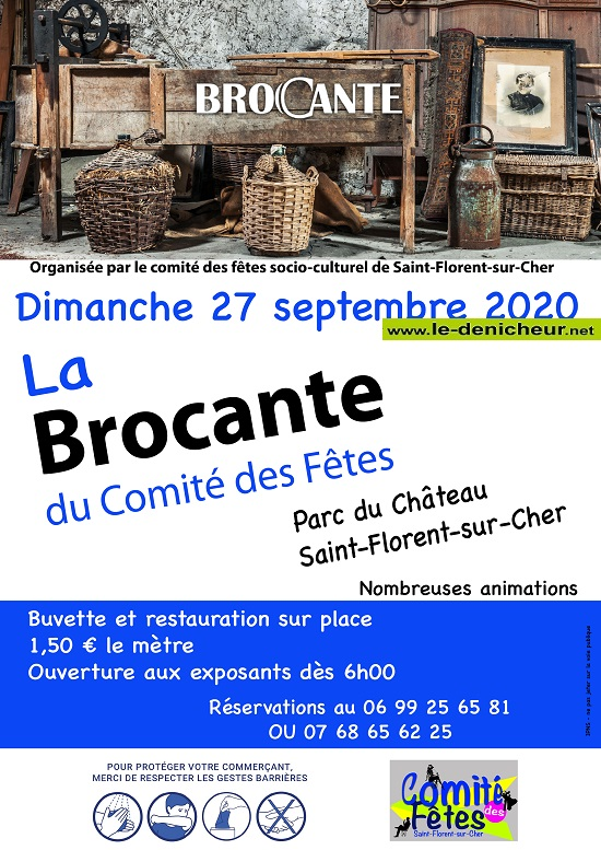 i27 - DIM 27 septembre - ST-FLORENT /Cher - Brocante annulée*/ 09-27o10