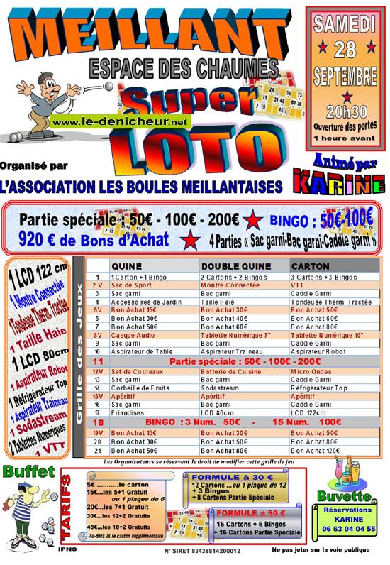 u28 - SAM 28 septembre - MEILLANT - Loto des boulistes */ 09-28_13