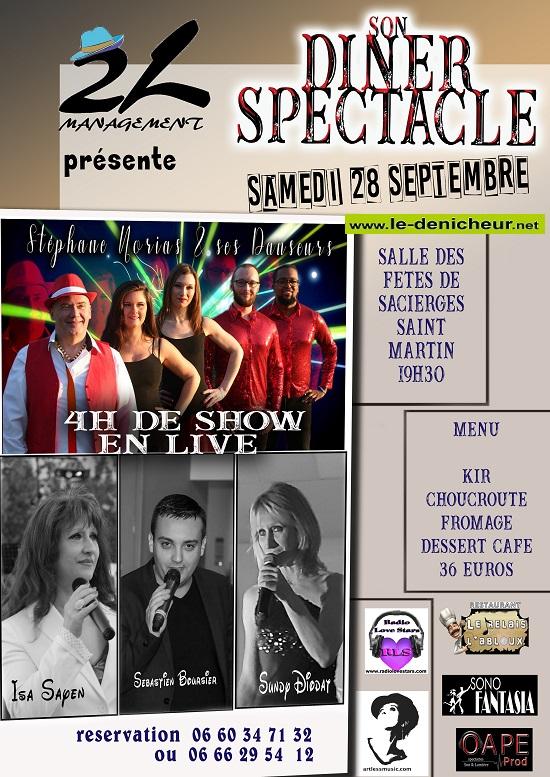u28 - SAM 28 septembre - SACIERGES ST-MARTIN - Dîner spectacle */ 09-28_15