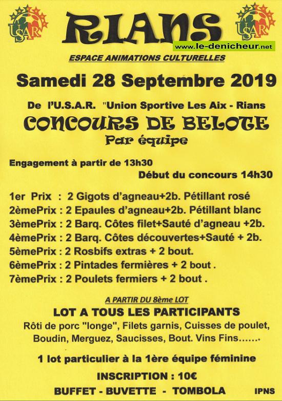 """u28 - SAM 28 septembre - RIANS - Concours de belote """"annulé"""" */ 09-28_17"""