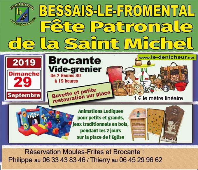 u29 - DIM 29 septembre - BESSAIS LE FROMENTAL - Brocante du comité des fêtes * 09-28_23