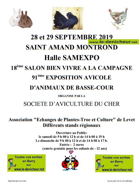 u28 - Les 28 et 29 septembre - ST-AMAND-MONTROND - Salon du Bien Vivre à la campagne  09-28a10