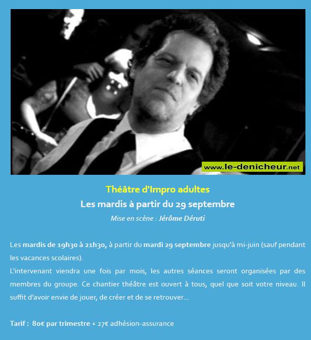 j20 - MAR 20 octobre - ST-AMAND-MONTROND - Atelier théâtre d'impro  09-2910