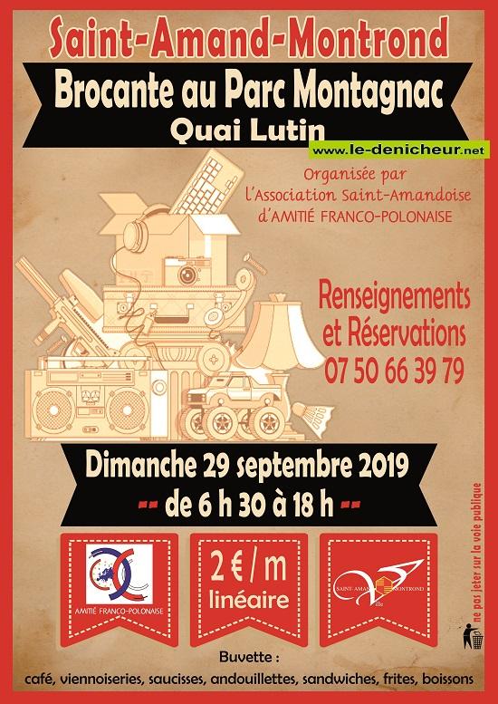 u29 - DIM 29 septembre - ST-AMAND-MONTROND - Brocante d''Amitié Franco Polonaise */ 09-29_25