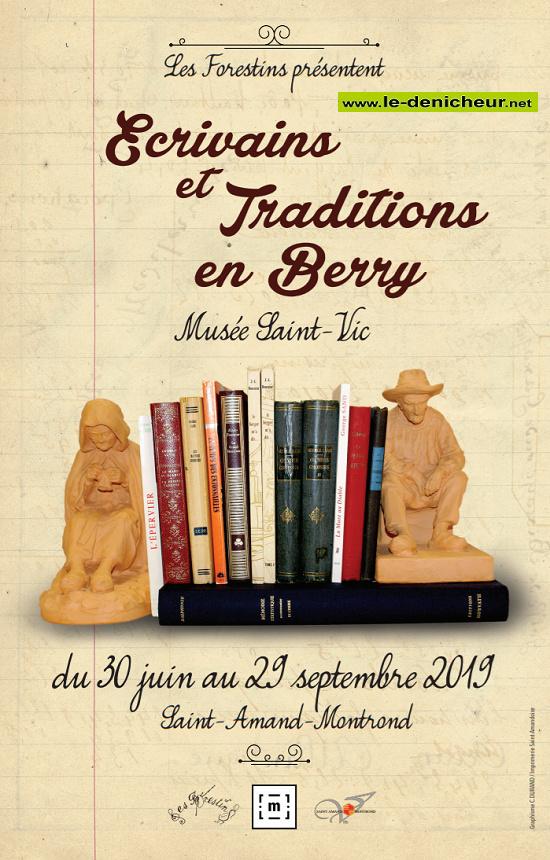 u29 - Jusqu'au 29 septembre - ST-AMAND-MONTROND - Ecrivains et Traditions en Berry _* 09-3015