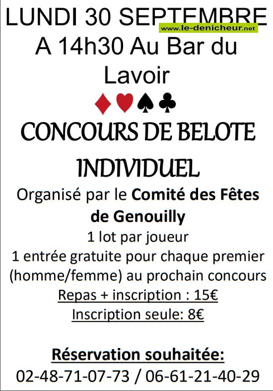 u30 - LUN 30 septembre - GENOUILLY - Concours de belote */ 09-30_24