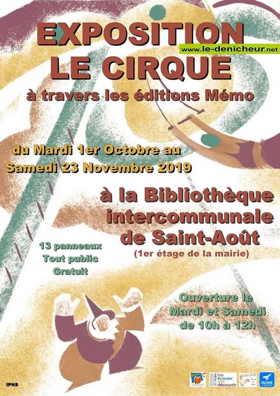 w23 - Jusqu'au 23 novembre - ST-AOÛT - Le Cirque à travers les éditions Mémo(exposition) 10-01_10