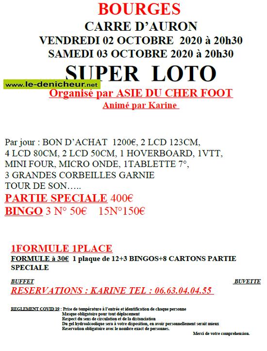 j03 - SAM 03 octobre - BOURGES - Loto d'Asie Foot */ 10-02_11
