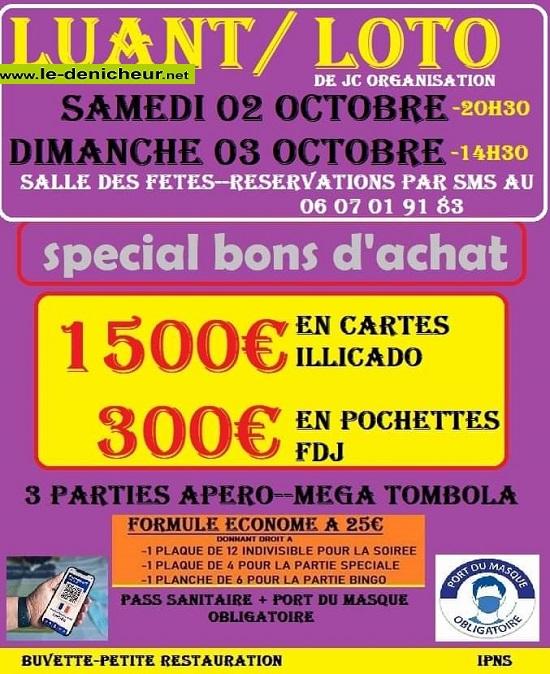v03 - DIM 03 octobre - LUANT - Loto de JC Organisation */ 10-03_19