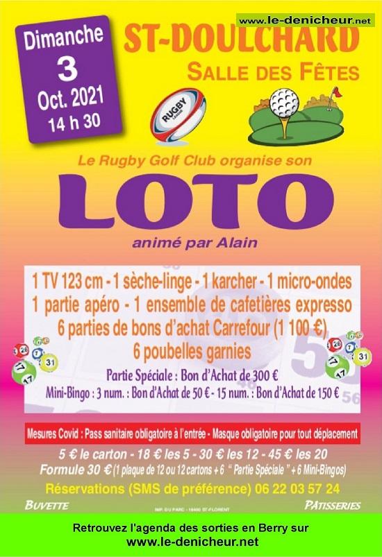 v03 - DIM 03 octobre - ST-DOULCHARD - Loto du Rugby Golf Club */ 10-03_21