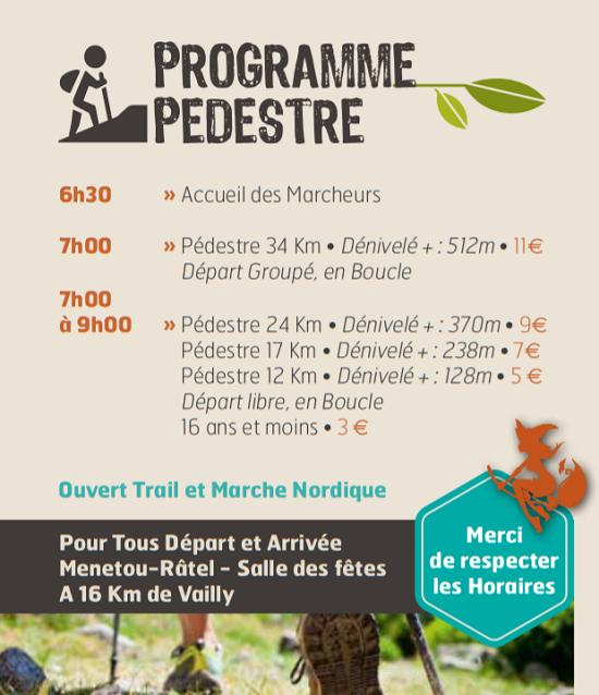 """j04 - DIM 04 octobre - VAILLY /SAULDRE - Randonnée pédestre et VTT """"19e Défi des Birettes""""*/ 10-04_16"""