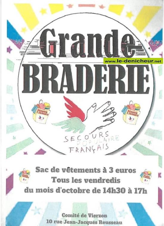 v18 - VEN 18 octobre - VIERZON - Braderie du Secours Populaire * 10-04_17
