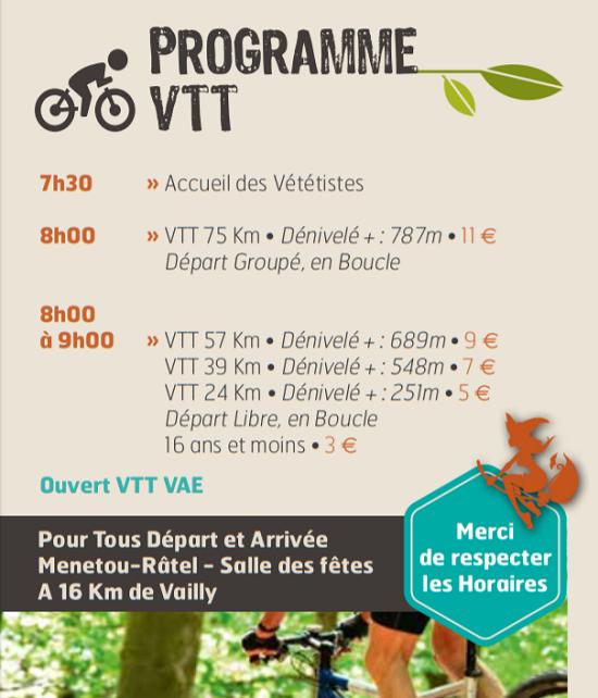 """j04 - DIM 04 octobre - VAILLY /SAULDRE - Randonnée pédestre et VTT """"19e Défi des Birettes""""*/ 10-04_17"""