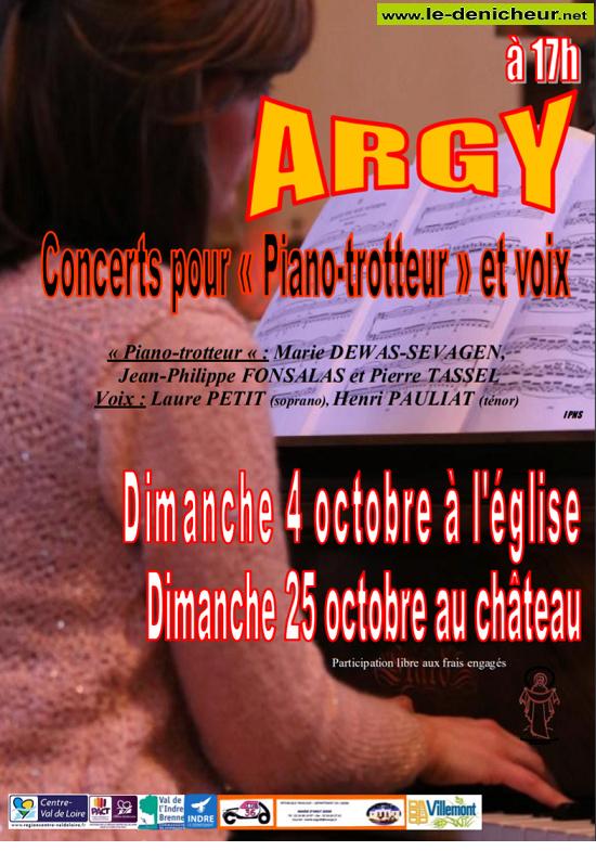"""j25 - DIM 25 octobre - ARGY - Concert pour """"Piano-trotteur"""" et voix */ 10-04_22"""