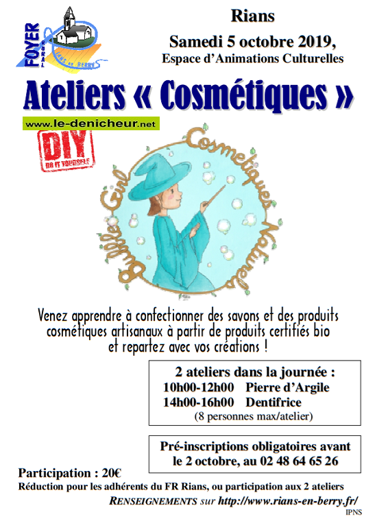 "v05 - SAM 05 octobre - RIANS - Ateliers ""cosmétique"" */ 10-05_12"