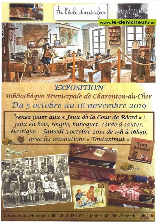 w16 - Jusqu'au 16 novembre - CHARENTON DU CHER - A l'école d'autrefois (exposition) 10-05_36