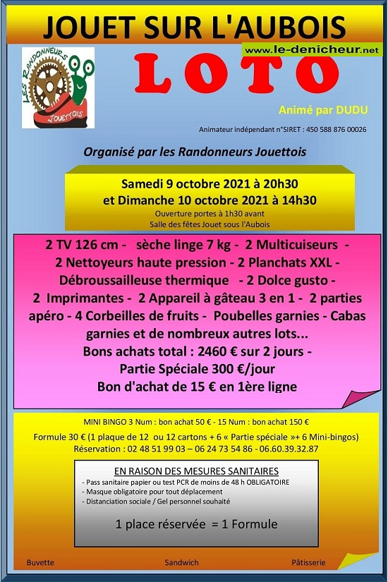 v10 - DIM 10 octobre - JOUET /l'Aubois - Loto des randonneurs */ 10-09_15