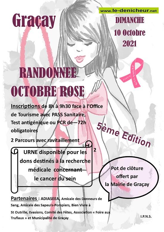 v10 - DIM 10 octobre - GRACAY - 5ème édition Randonnée Octobre Rose */ 10-1011