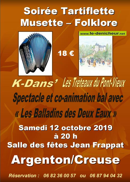 v12 - SAM 12 octobre - ARGENTON /Creuse - Bal des Tréteaux du Pont-Vieux*/ 10-12_19
