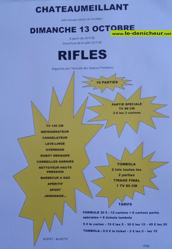 v13 - DIM 13 octobre - CHATEAUMEILLANT - Rifles des sapeurs pompiers .*/ 10-13_38