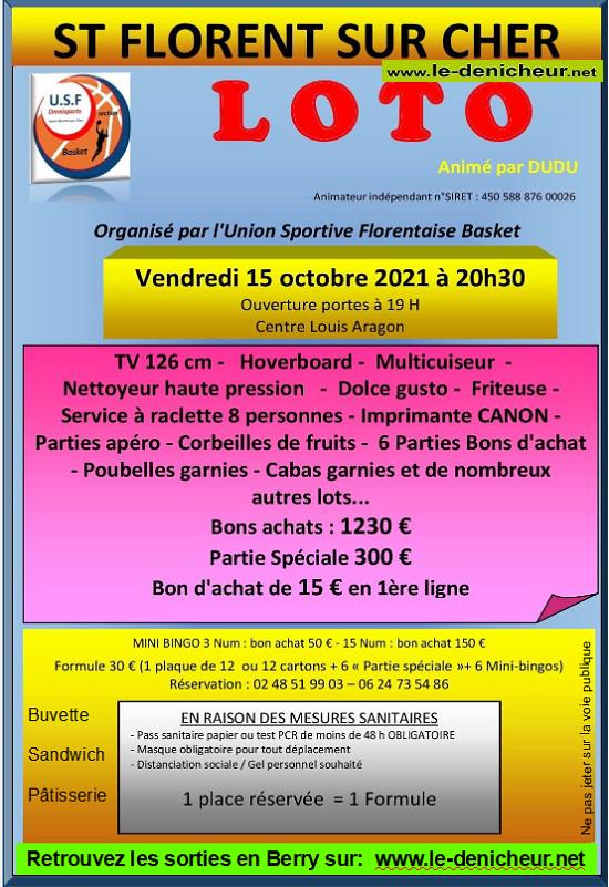 v15 - VEN 15 octobre - ST-FLORENT /Cher - Loto de l'USF Basket */ 10-15_10