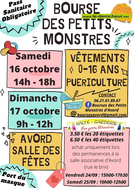 v17 - DIM 17 octobre - AVORD - Bourse aux vêtements - Puériculture *_ 10-1611