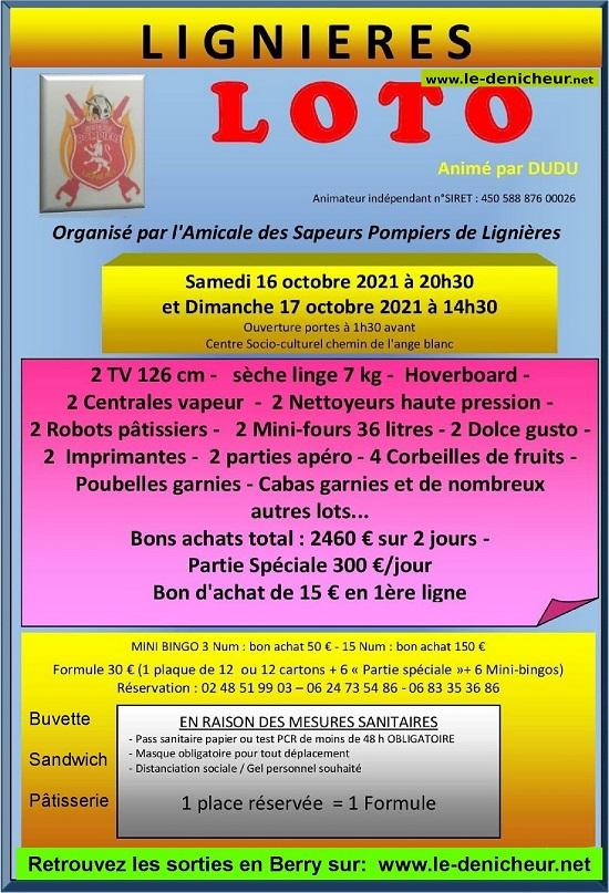 v16 - SAM 16 octobre - LIGNIERES - Loto des pompiers */ 10-16_14