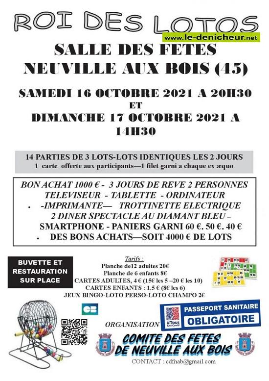 v17 - DIM 17 octobre - NEUVILLE AUX BOIS - Loto du comité des fêtes  10-16_17