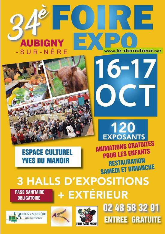 v16 - Les 16 et 17 octobre - AUBIGNY /Nère - 34ème Foire Expo 10-16_24