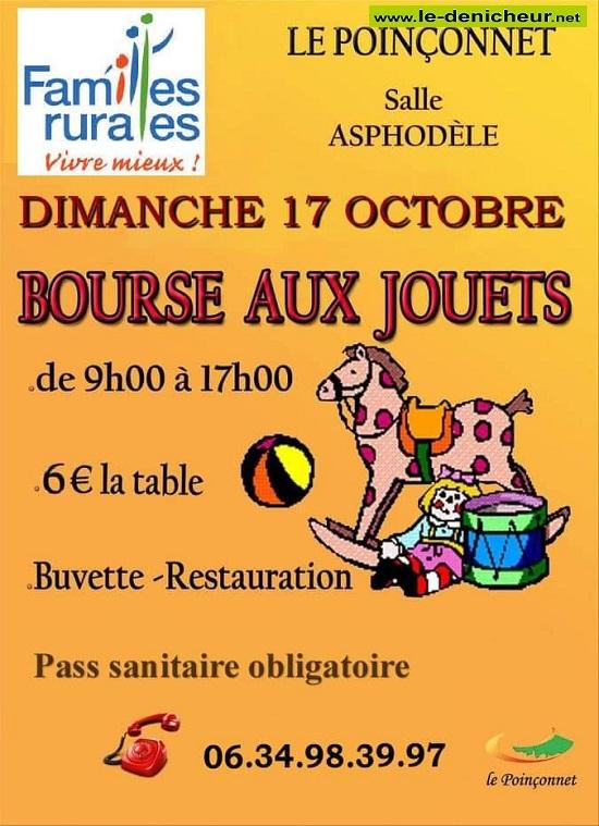v17 - DIM 17 octobre - LE POINCONNET - Bourse aux jouets * 10-17_18
