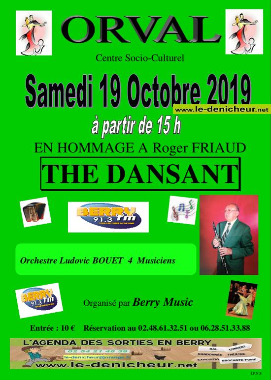 v19 - SAM 19 octobre - ORVAL - Thé dansant avec Ludovic Bouet */ 10-19_12