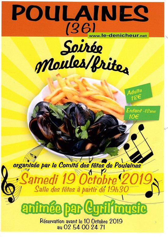 v19 - SAM 19 octobre - POULAINES - Dîner dansant avec Cyril Music .*/ 10-19_16
