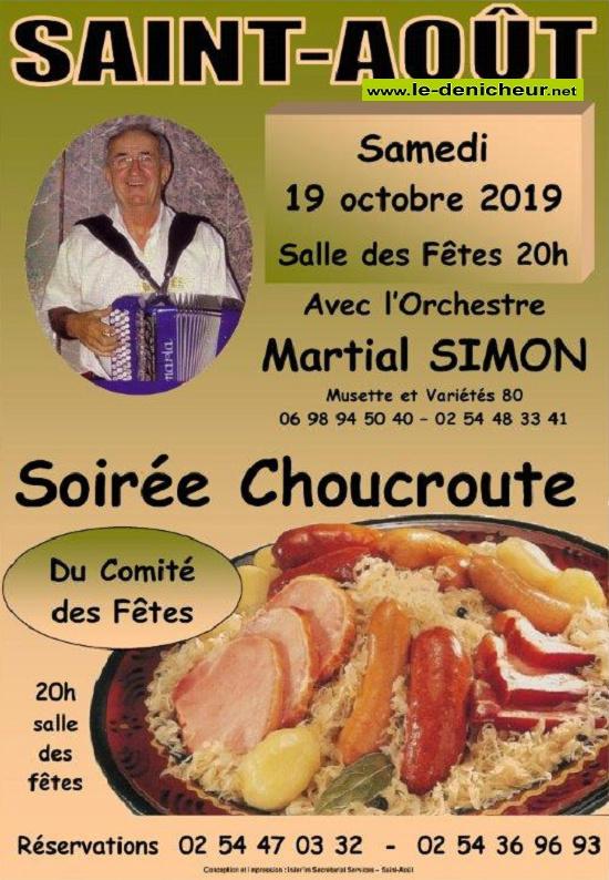 v19 - SAM 19 octobre - ST-AOÛT - Dînert dansant avec Martial Simon */ 10-19_19
