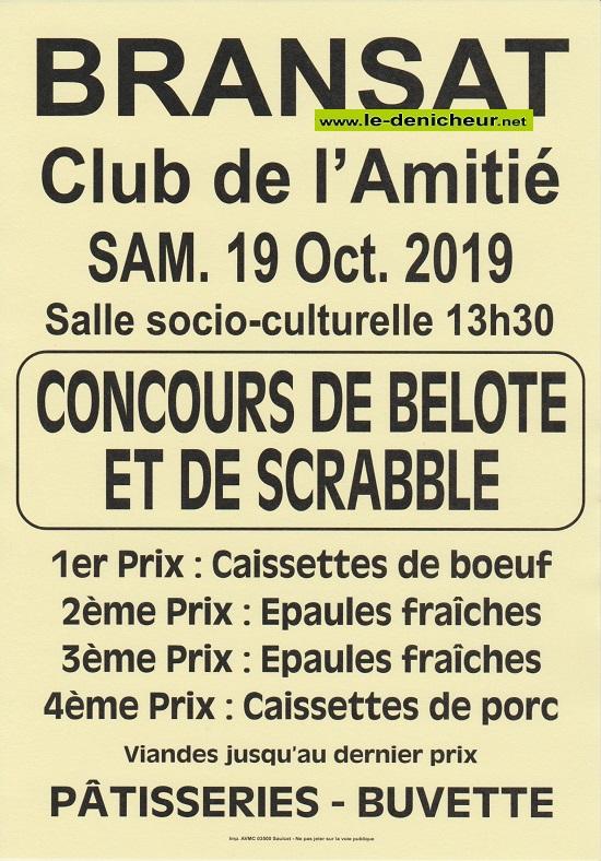 v19 - SAM 19 octobre - BRANSAT - Concours de belote */ 10-19_20