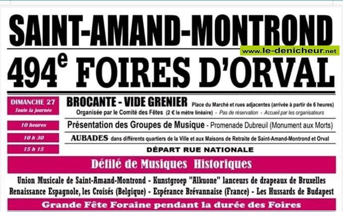 v27 - DIM 27 octobre - ST-AMAND-MONTROND - Brocante du comité des fêtes * 10-19_22