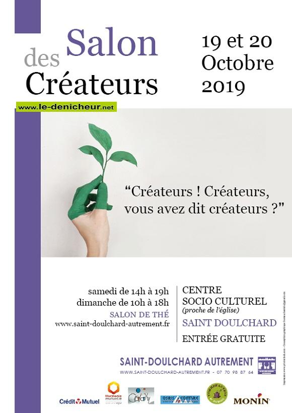 v19 - Les 19 et 20 octobre - ST-DOULCHARD - Salon des créateurs .*/  10-19_23