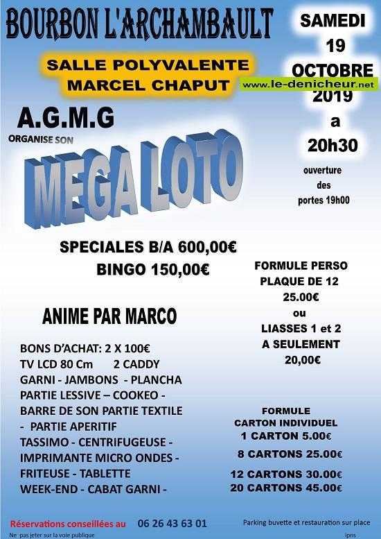 v19 - SAM 19 octobre - BOURBON L'ARCHAMBAULT - Loto de l'A.G.M.G */ 10-19_26