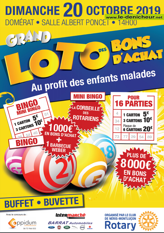 v20 - DIM 20 octobre - DOMERAT - Loto du Rotary Montluçon Néris les Bains */ 10-20_29