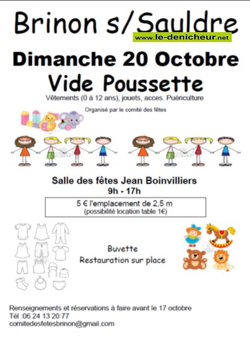 v20 - DIM 20 octobre - BRINON /Sauldre - Vide poussette * 10-20_30