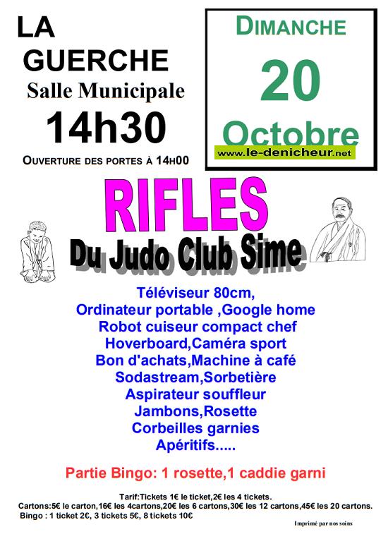 v20 - DIM 20 octobre - LA GUERCHE /L'Aubois - Loto du Judo Club Sime */ 10-20_31