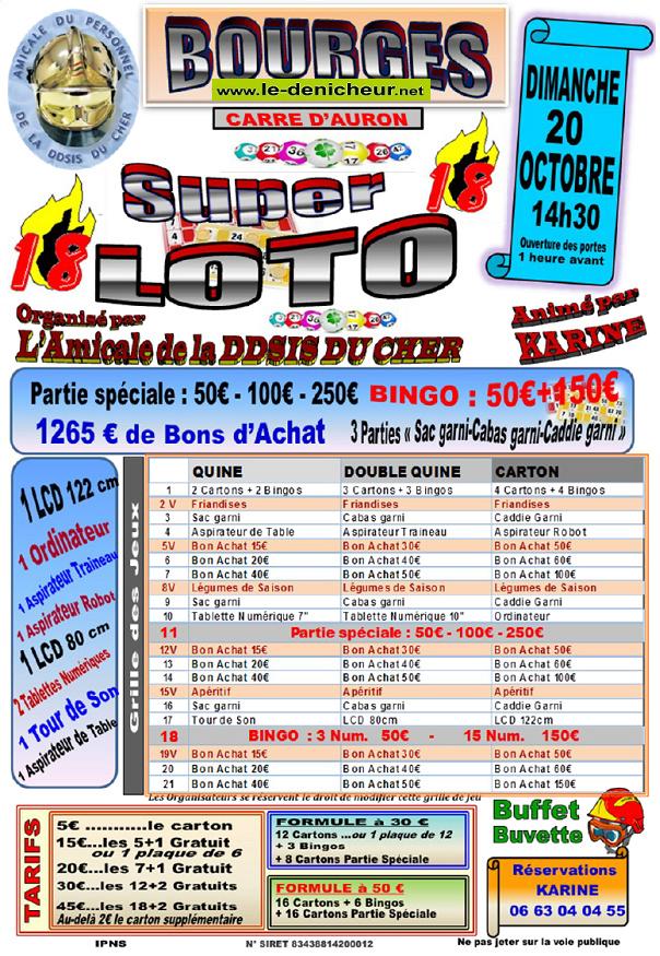 v20 - DIM 20 octobre - BOURGES - Loto de l'Amicale de la  DDSIS du Cher */ 10-20_41