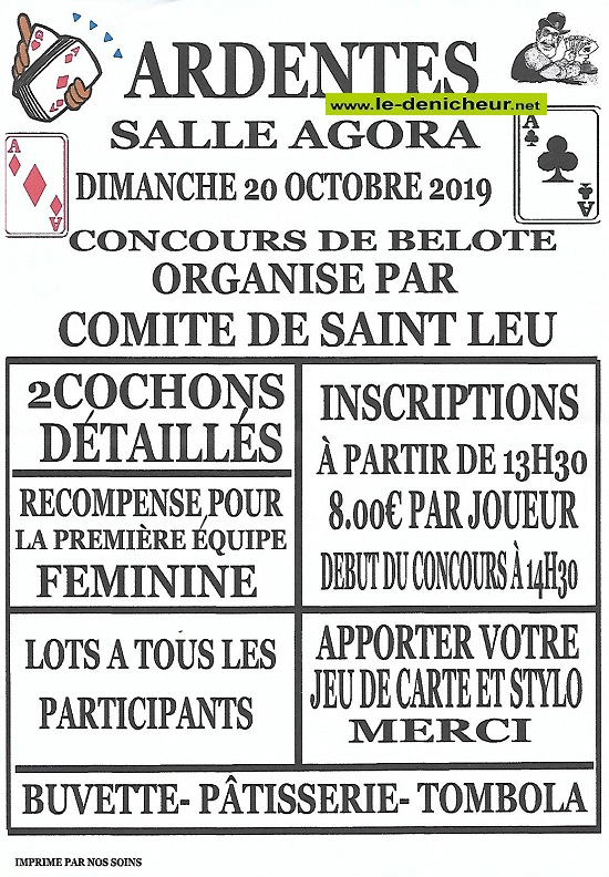v20 - DIM 20 octobre - ARDENTES - Concours de belote */ 10-20_43